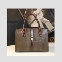 2021 new luxury imported crocodile pattern real cowhide ladies bag large capacity shoulder bag handb