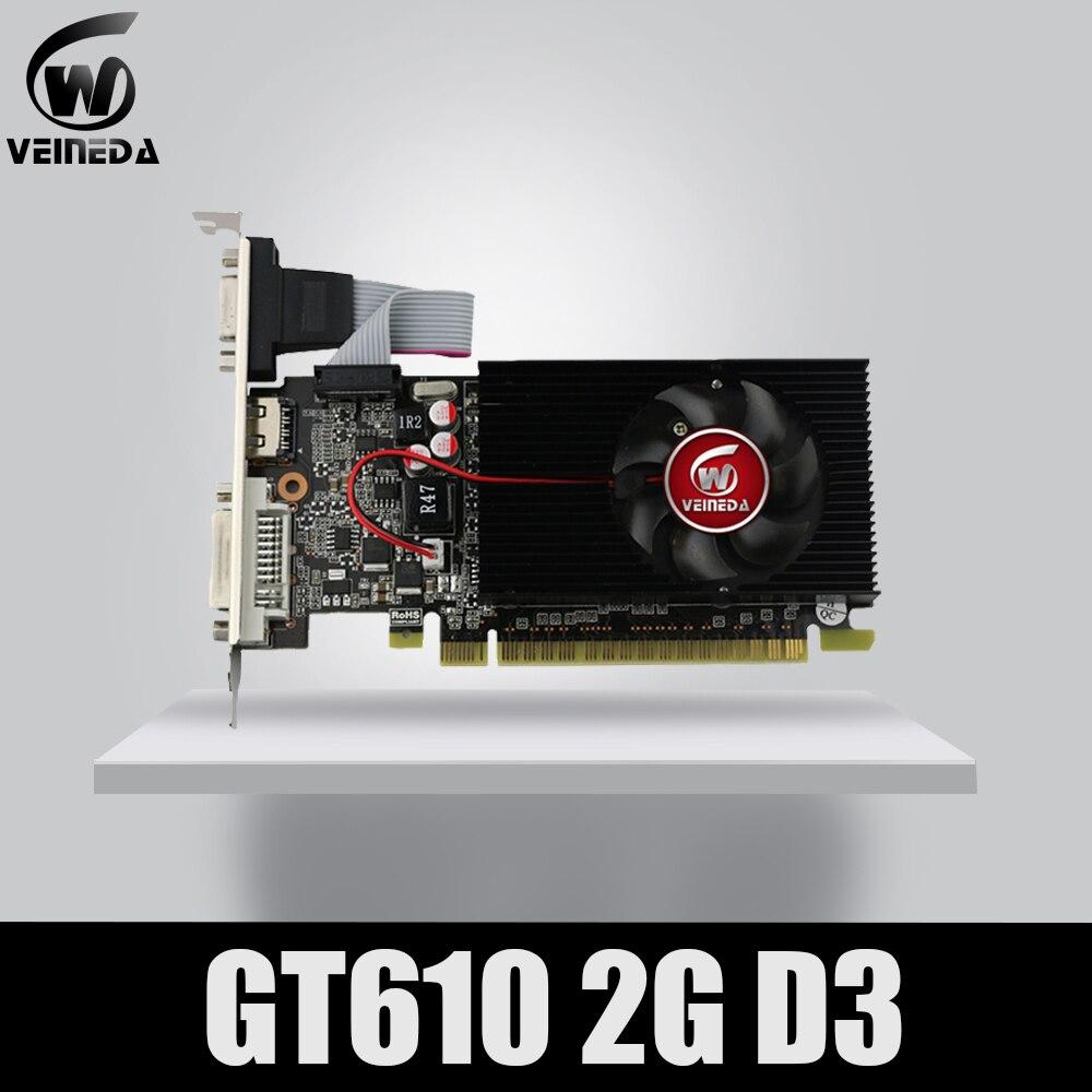 Veineda exibir cartões vga gt610 2 gb ddr3 700/1000 mhz para nvidia geforce jogo pc