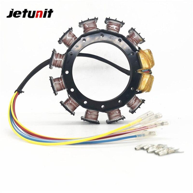 JETUNIT genuine outboard 9 amp Stator FOR MERCURY  2,3&4 CYLINDER 174-8778k1 398-8778A6