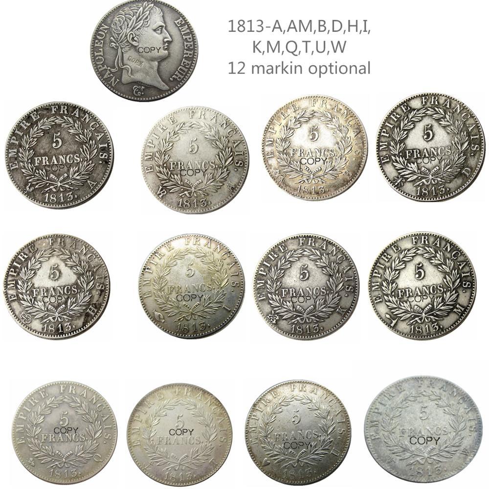 Francia 5 FRS 1813-A-W 12 markin opcional plateado copia monedas