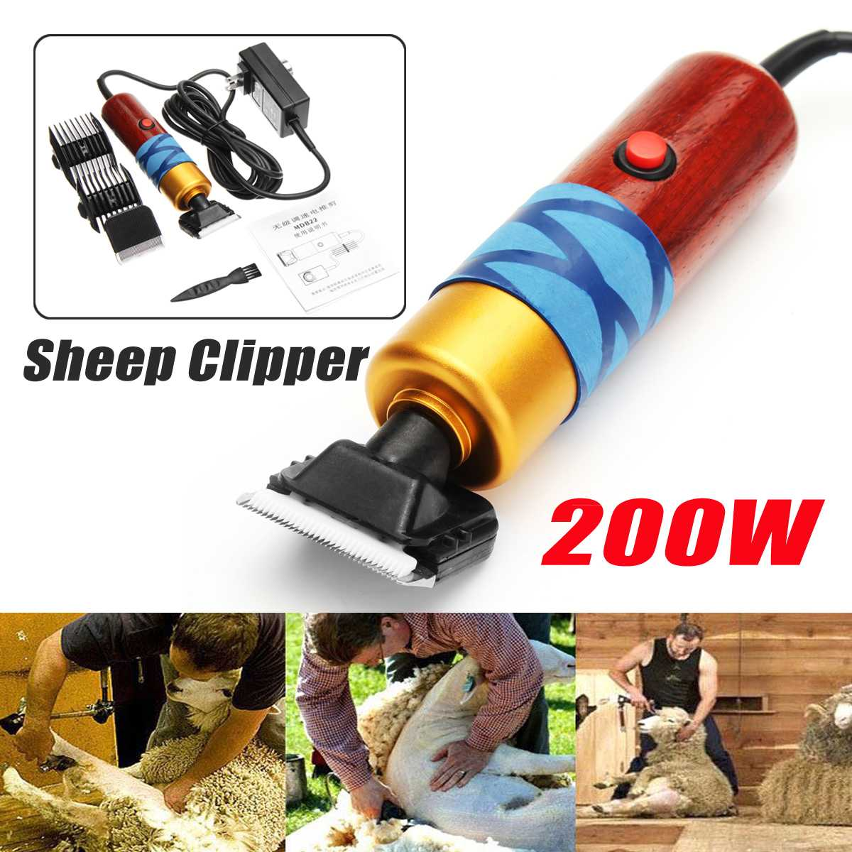DC12V 200W Electric Shearing Horse Dog Sheep Shear Animal Pet Grooming Clipper Trimmer Hair Trimmer Cutter Pet Clipper enlarge