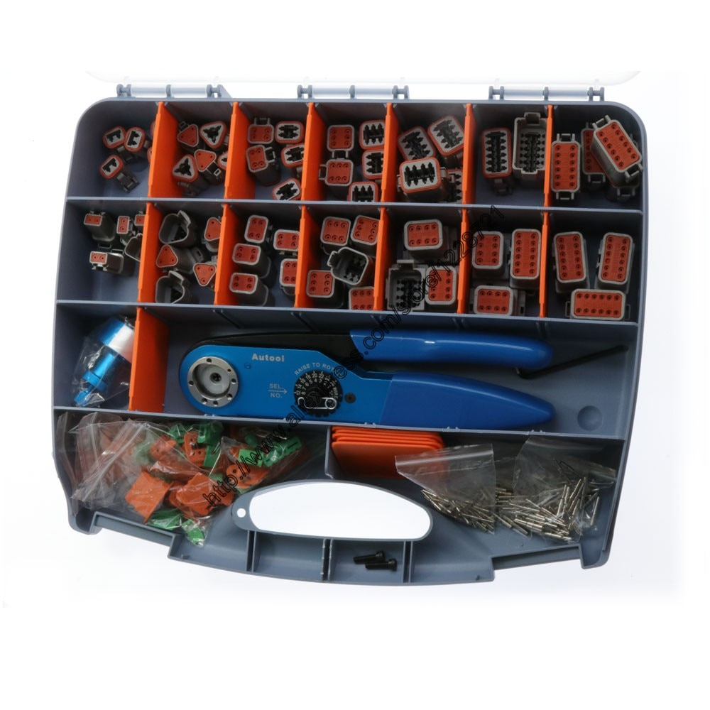 471 PCS Gray DT Series Connector and DT,DTM,DTP Hand Tool Pliers AF8+UH2-5 for Deutsch connector terminal 12-26 AWG