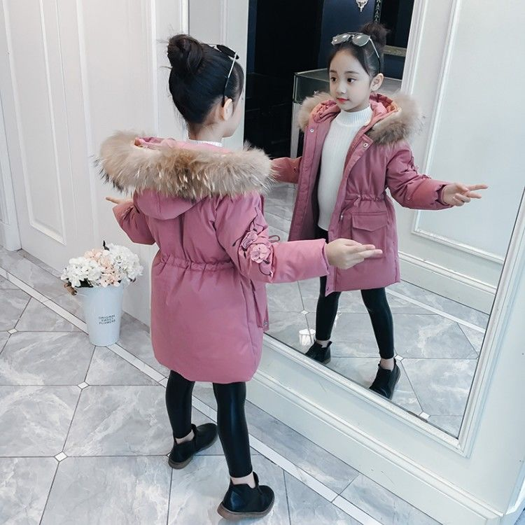 New 2020 Winter Fashion Children Down Cotton Jacket Girl Clothing Kids Clothes Warm Thick Parka Fur Collar Hooded Outerwear W657 enlarge