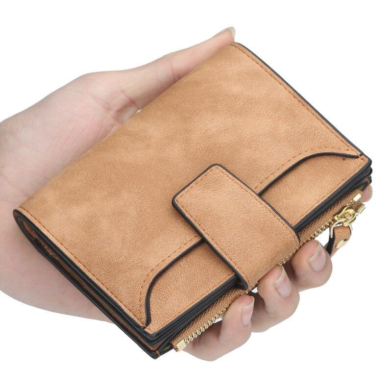 Кошелек женский на застежке, маленький узкий бумажник с кармашком для мелочи, роскошные дизайнерские кредитницы, кошелек карта Упаковка 2021
