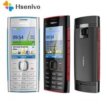 Originele Unlokced Nokia X2 X2-00 Bluetooth Fm Java 5MP Ontgrendeld Mobiele Telefoon Met Engels/Rusland/Hebreeuws/Arabisch toetsenbord