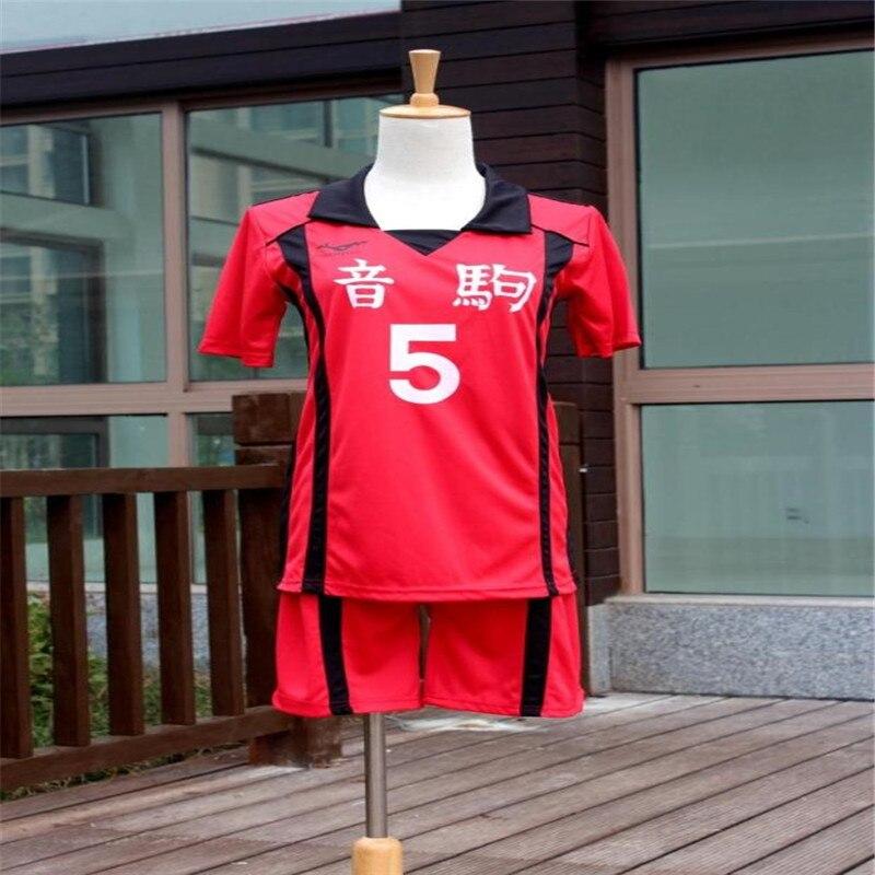 ¡Tee! Nekoma la escuela #5 Kenma Kozume Cosplay traje de Jersey deportes uniforme