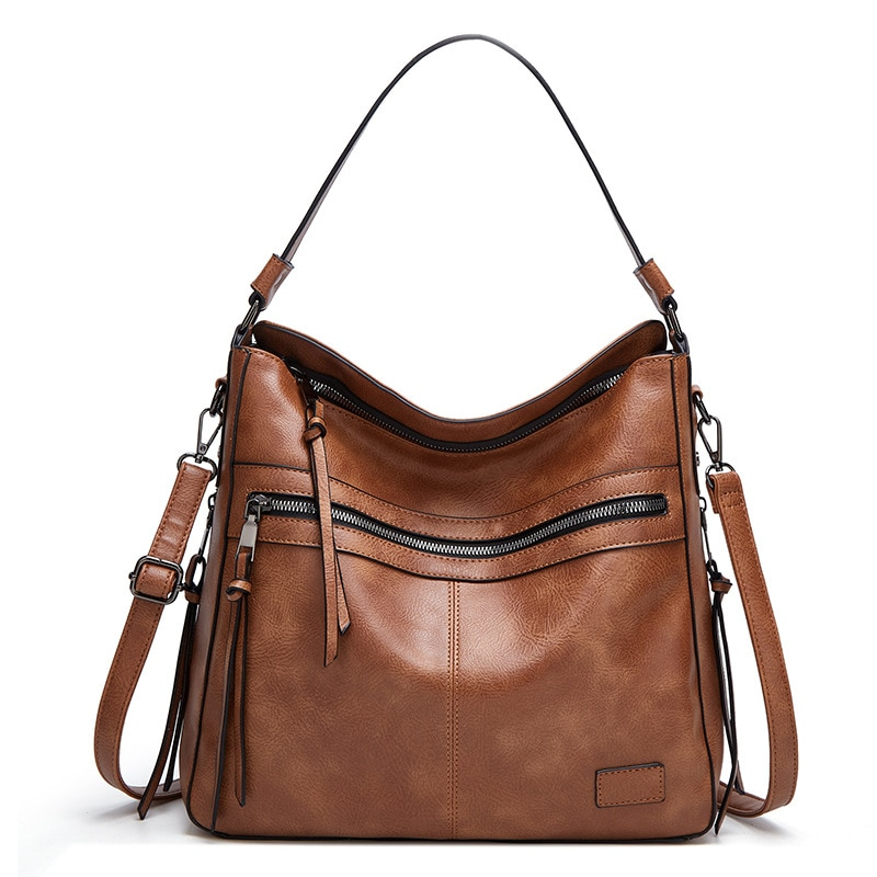 New Women Crossbody Bag Ladies Vintage Brand Luxury Handbags Large Capacity Female Shoulder Bags Soft Leather Tote Messenger