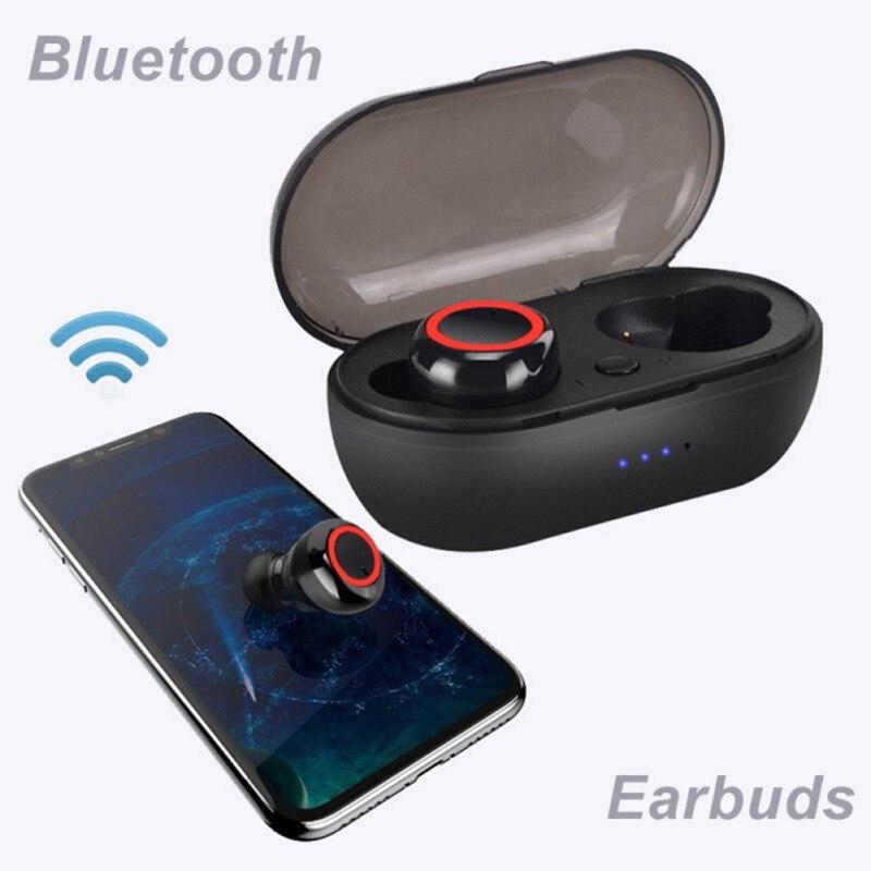 Auriculares TWS inalámbricos por Bluetooth 5,0, cascos deportivos a prueba de agua...