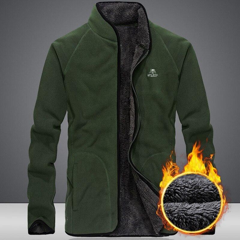 Теплая зимняя куртка в стиле милитари Для мужчин с плотным флисом, куртка в стиле милитари Для Мужчин's ветровка со стоячим воротником Куртк...
