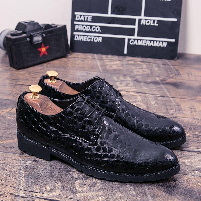 Zapatos de cuero para hombre, zapatos oxford clásicos italianos a la moda,...