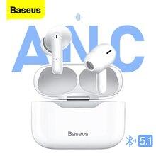 Baseus S1 ANC TWS Bluetooth Earphones Stereo Wireless 5.1 Bluetooth Headphones Touch Control Noise C