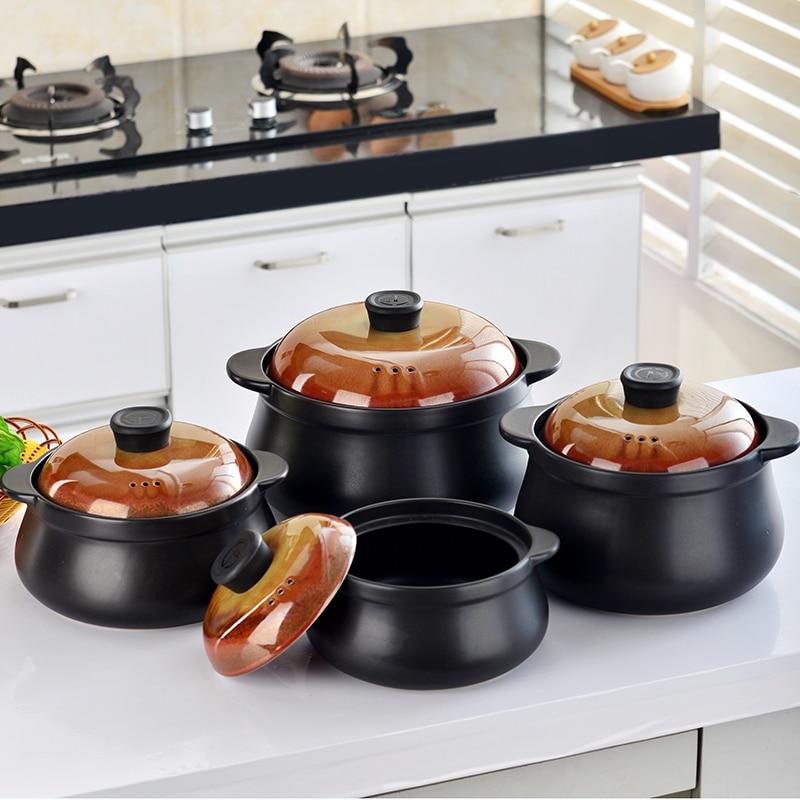 Resistente ao Calor Panela de Sopa Fogão a Gás Cerâmica Caçarola Doméstico Cozinha Panelas Fogo Aberto Hotpot