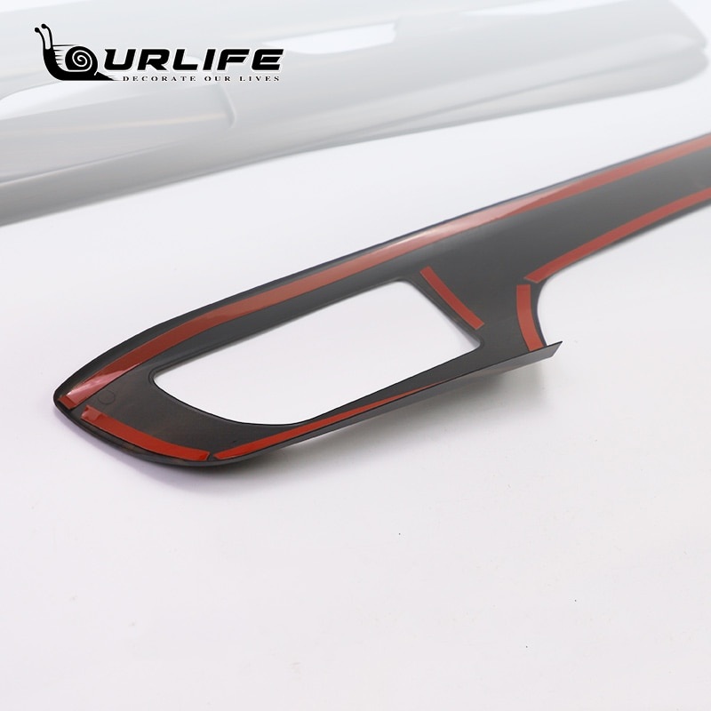 Carbon Fiber Door Handle Bowl Cover Inner Bowl Sticker Side Protector For Toyota Highlander Kluger XU70 2021 2022 Accessories enlarge