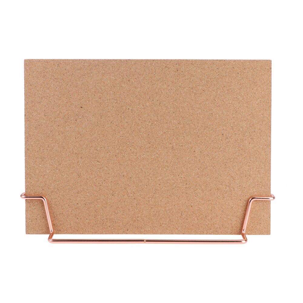 Cork Board Bulletin Board Message Boards Wooden Pin Memo Board Notice Board for Home Office (Rose Gold Base)