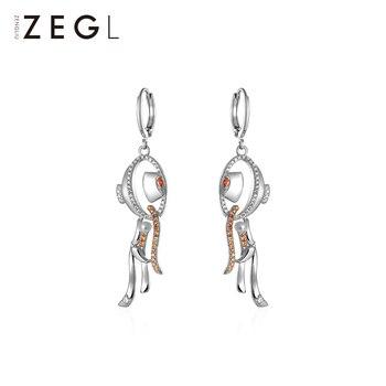 ZENGLIU Designer Creative Hot Pot Earrings Female Fun and Unique Stud Niche Design Ear Clip Ear Rings