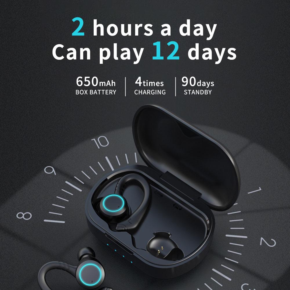 Cyboris IPX7 Waterproof Wireless Sports Earphones Bluetooth 5.0 Touch Control Host Switch On-ear Headphones Professional Water enlarge
