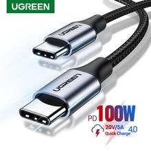 "Ugreen USB C ל-usb סוג C עבור Samsung S20 פ""ד 100W 60W כבל עבור MacBook iPad פרו טעינה מהירה 4.0 USB-C מהיר USB תשלום כבל"