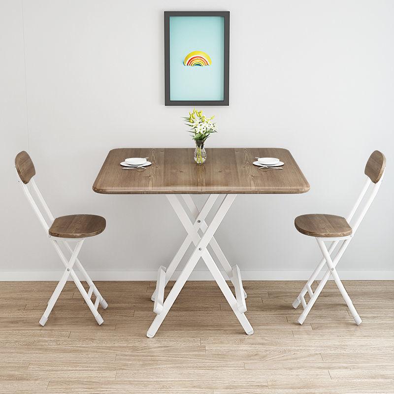 طاولة قابلة للطي البساطة الحديثة الخشب الحبوب الإفطار الجدول أثاث المطبخ المحمولة في الهواء الطلق طاولة مربعة صغيرة شرفة الجدول