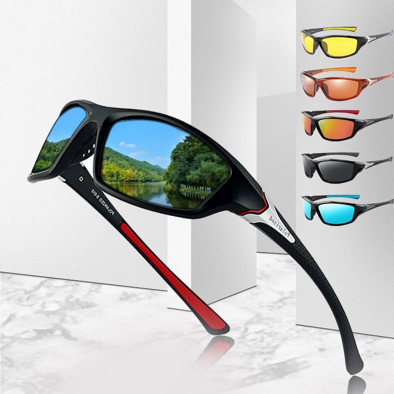 Luxury Polarized Sunglasses One Piece Fishing Classic Sun Glasses Men's Driving Shades Male sunglass Vintage Travel sunglass