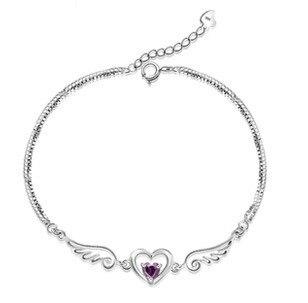 REETI alas de amor pulseras y brazaletes para mujer 2018 nueva tendencia 925 joyería de moda de plata de ley