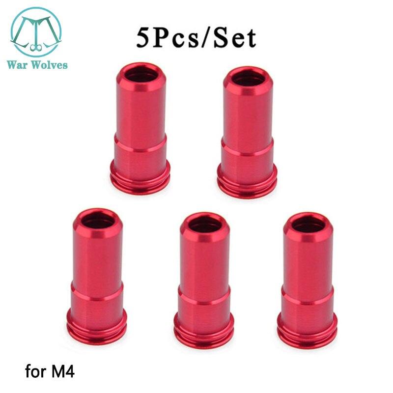 M4 Ugello di Alluminio di CNC O-ring Air Seal M4 Ugello per G36 G36c M4 M14 AK MP5 Airsoft AEG tiro Paintball Caccia Accessori