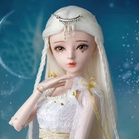handpainted makeup bjd 13 doll full set 60cm ball jointed glass eyes princess dolls collection toys for girls birthday gift