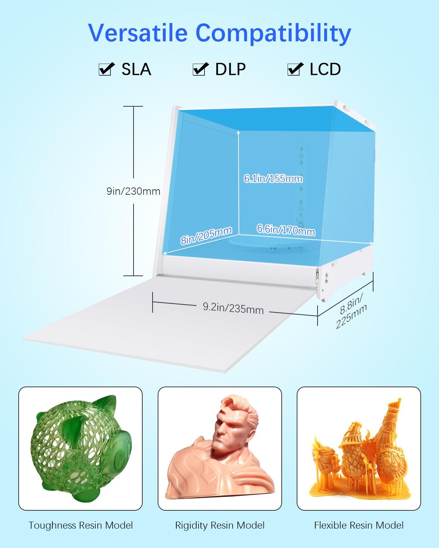 SUNLU Enotepad DIY Kit Rc-1 3D Printing objects  UV Resin Curing Enclosure for PLA/PETG/TPU/ABS Filament Printed Models enlarge