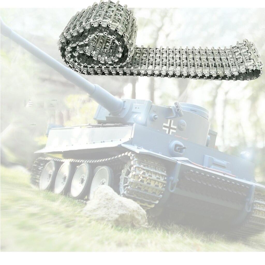 Faixas de metal corrente se encaixa heng longo 3818 1/16 escala tanque chassi atualizar peças