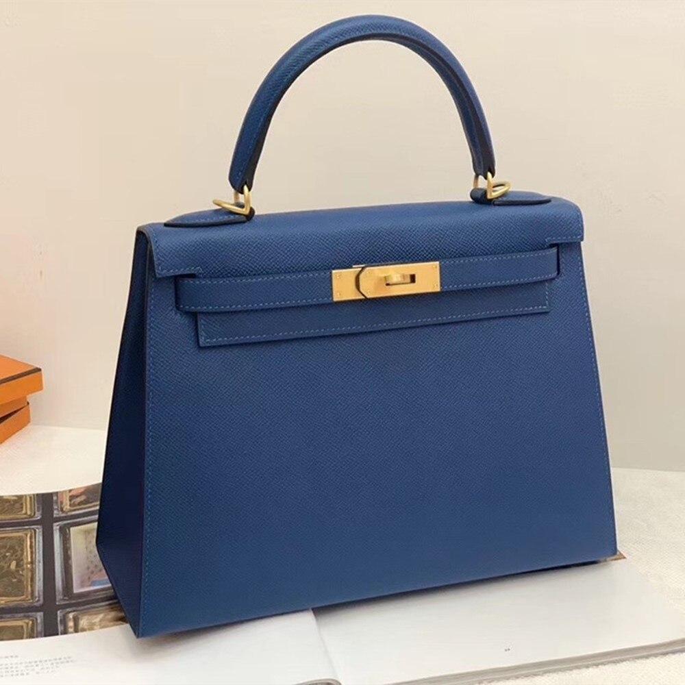 Handmade Designer Bags Famous Brand Women 2020 Luxury Handbags Woman Genuine Leather Runway Female Europe Top Quality 129