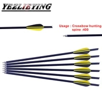 12pcs 1617182022 inch crossbow carbon arrows spine 400 for mini crossbow bow shooting