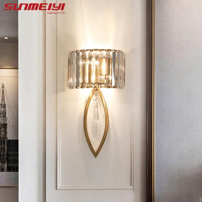 AliExpress - Luxury Led Wall Lamps For Living room Bathroom Corridor Stairs Loft Lamp Modern Bedroom Crystal Wall Light specchio da parete