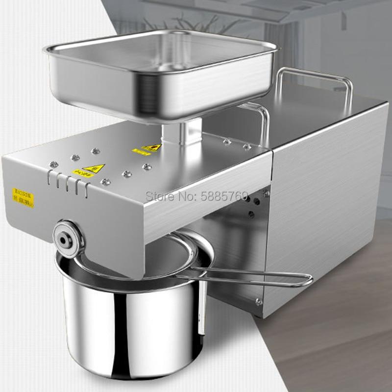 Prensa de aceite de acero inoxidable, Máquina De Prensa De Aceite caliente fría 110/220v, Extractor de aceite de linaza, cacahuetes, semillas de girasol, ACEITE DE ALMENDRAS
