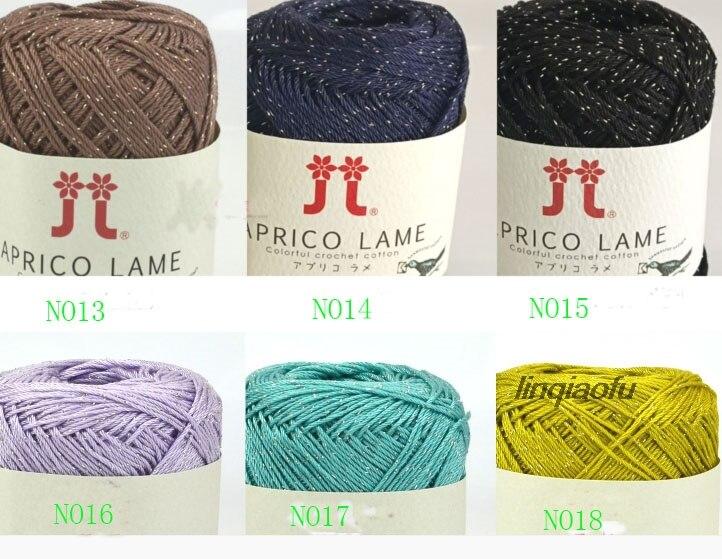 Hilo de algodón de punto de gama alta importado de Japón, algodón medio fino con cable dorado