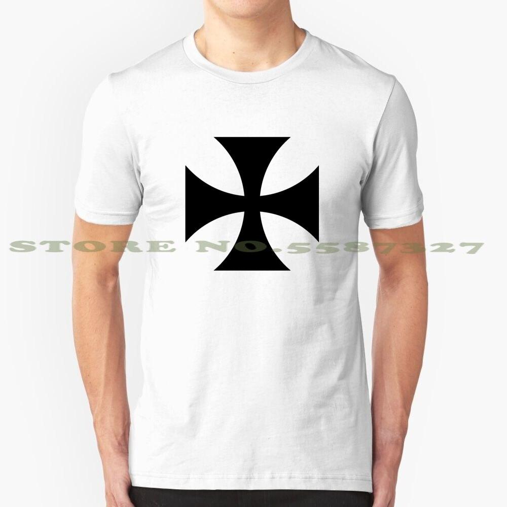Teutonique fer croix Cool Design T-Shirt à la mode Tee-shirt symbole allemand fer croix fer croix templier ordre militaire guerre Airforce