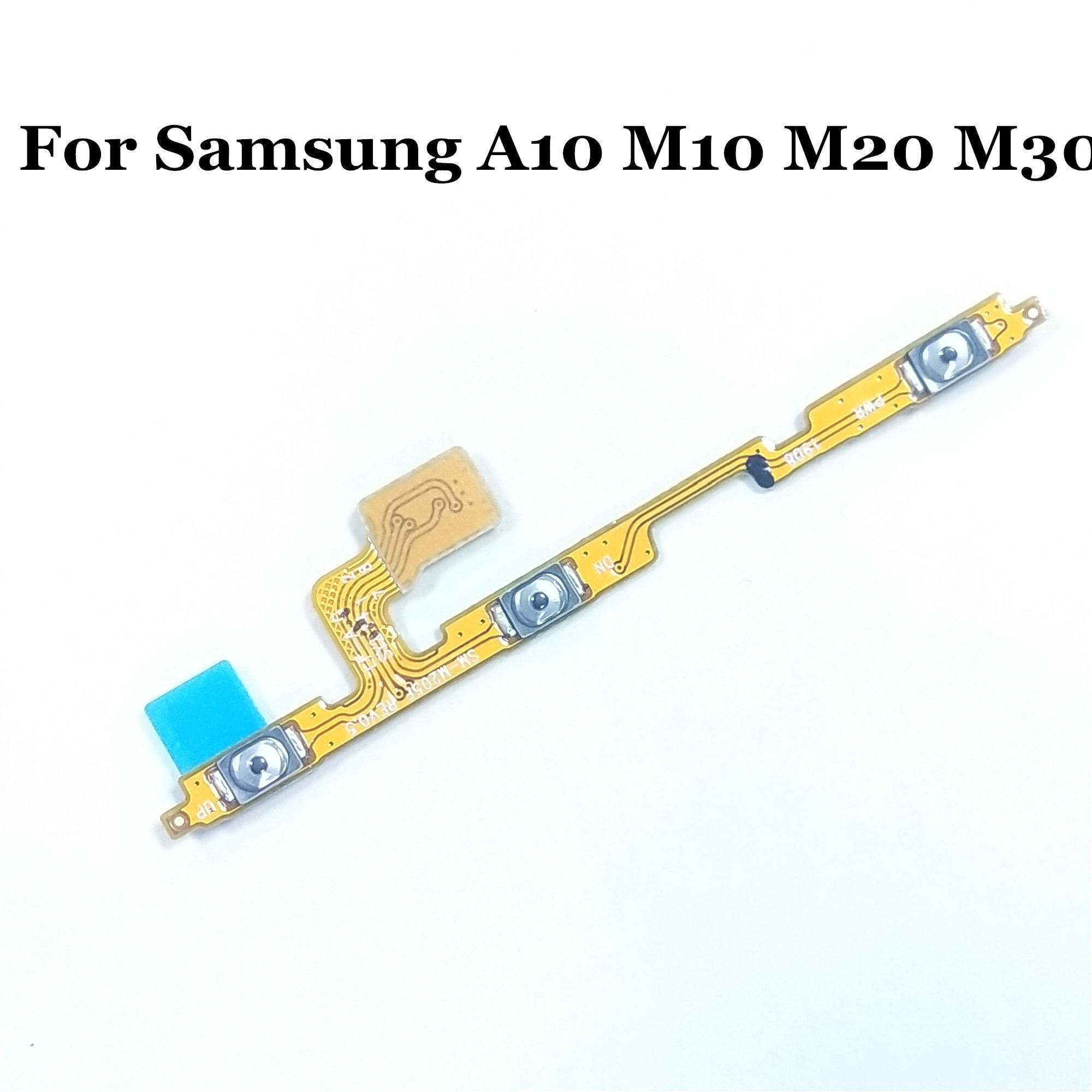 1 Uds Original en la de volumen lado botones cable Flex para Samsung A10 A105F M10 M105F M20 M205F M30 M305F piezas de repuesto