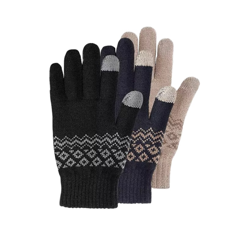 Youpin FO Touch Screen Winter Gloves Knitted Warm Velvet Cycling Motorcycle Glove Full Finger Women Men Winter Gloves enlarge