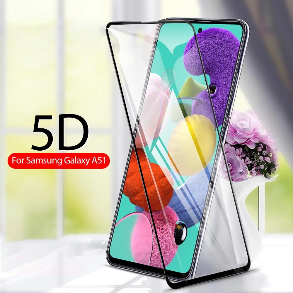 Vidrio Protector 5D para Samsung Galaxy A51 SM-A515F vidrio templado con cubierta curvada completa para Samsung Galaxy A71 Protector de pantalla 9H