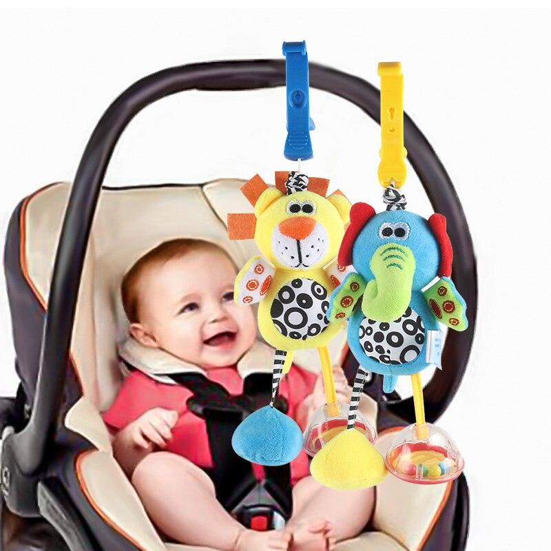 Melhor venda brinquedos 0-12 meses chocalho Do Bebê cama sino bebê recém-nascido brinquedo leão animal elefante pingente móvel berço brinquedo carrinho de bebê bom