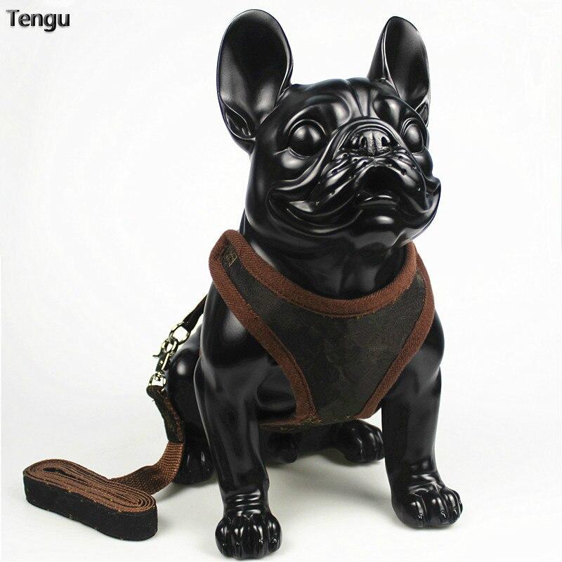 Correa de Mascota de tres diseño de colores, correa de perro de estilo de chaleco, correas de pecho, collar de espalda de gato de pecho con correa de cuerda, suministro de material de algodón para mascotas