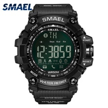 SMAEL بلوتوث الساعات الذكية الرجال تشغيل الرياضة ساعة رقمية كرونوغراف مقاوم للماء ساعة عسكرية Relogio Masculino ساعة اليد