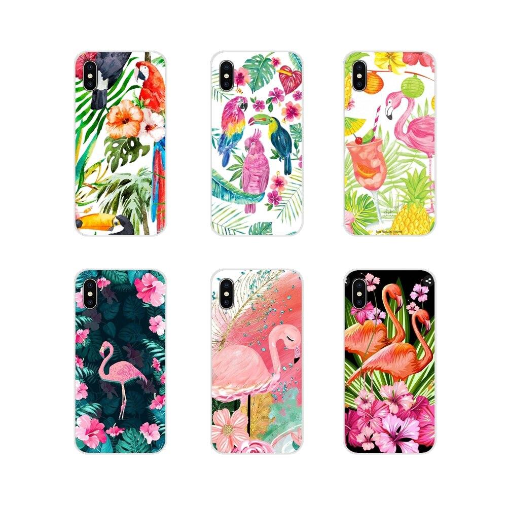 Чехол из ТПУ для samsung Galaxy S3 S4 S5 Mini S6 S7 Edge S8 S9 S10 Lite Plus Note 4 5 8 9 летние цветы Фламинго Тукан птицы