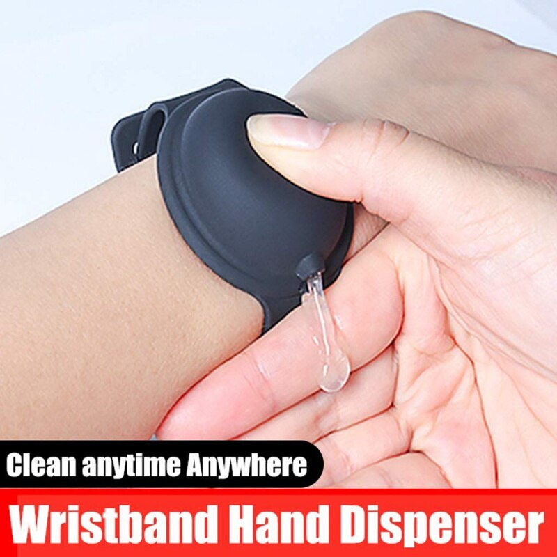 New Hand Sanitizer Disinfectant Sub-packing Silicone Bracelet Wristband Hand Dispenser Wearable Hand Sanitizer Dispenser Pumps wristband hand dispenser hand sanitizer dispensing silica gel wearable refillable dispenser pumps wristbands hand band wrist