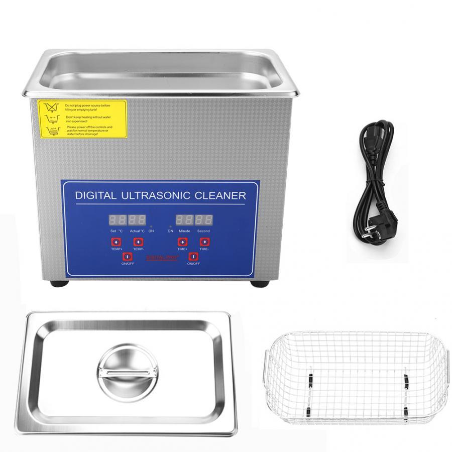 110W Ultrasonic Cleaner Digital Pro LED Cleaning Machine Bath Tank 3L Cleaning Basket