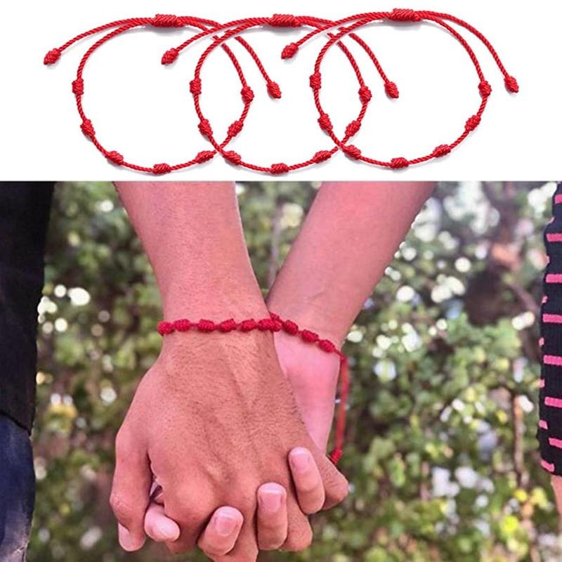 rainah davis super kingdom admin 7 components for success 6Pcs 7 Knots Red String Bracelet for Protection Evil Eye Good Luck Amulet for Success and Prosperity Friendship Bracelet