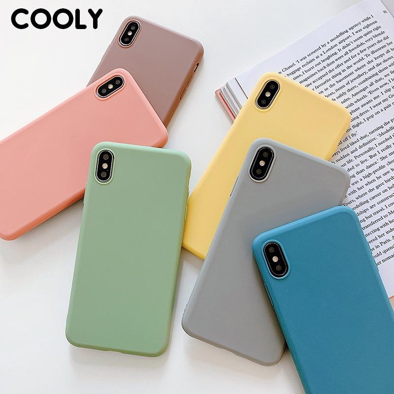 Funda COOLY Color caramelo para Huawei Honor 8X 8A 8C 7X9 i 10i V20 funda trasera en Honor 10 Lite 20 Pro suave TPU silicona teléfono Coque