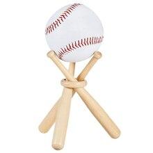 Support en bois de boule de Souvenir de présentoir de balle de Tennis de Golf de Baseball