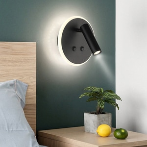 Hotel Corridor Stair Wall Light With Reading Spotlight Creative Backlit Bedside Reading Wall Light With Double Switch