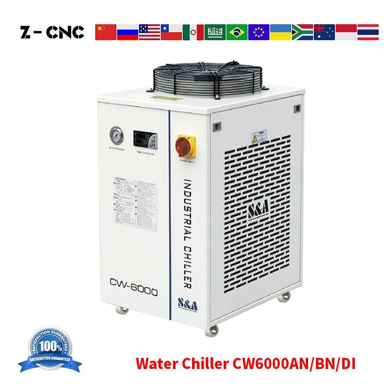 Z-CNC CW 6000 Water Chiller S&A CW6000AN CW6000BN CW6000DI For Laser Machine Cooling 200-300W CW6000 110V 220V 50 60Hz
