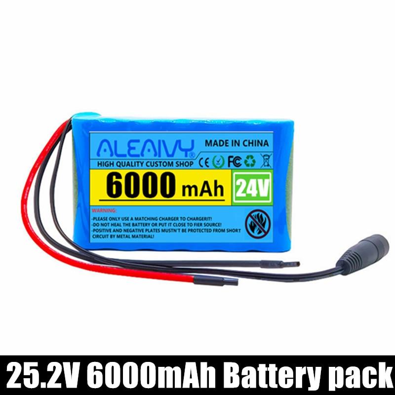 24 فولت 6Ah 25.2 فولت 6S1P بطارية ليثيوم أيون حزمة بطاريات ليثيوم للكهرباء دراجة نارية ebike سكوتر اللعب الحفر مع BMS