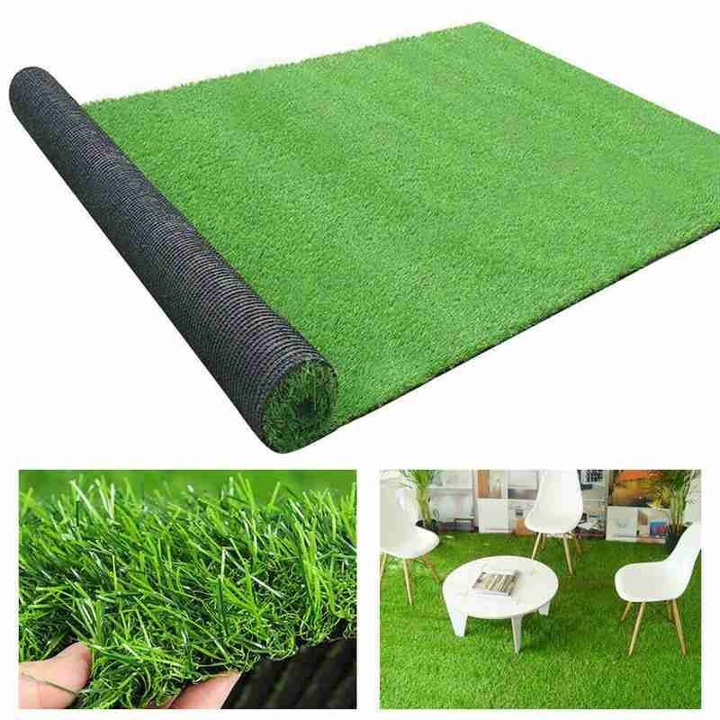 Artificial Grass Carpet Green Fake Synthetic Garden Landscape Lawn Mat Turf Grass Mat Fake Synthetic Landscape Golf Lawn